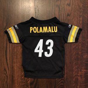 a5e1c72c3ba Reebok Shirts   Tops - Troy Polamalu NFL Pittsburgh Steelers Jersey